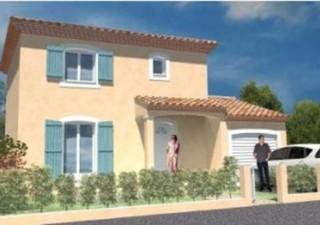 Exclusivité Maisons-Lisax, au calme, sur une parcelle de 286 m², Projet de maison à étage de style régional(95m²) en RT 2012 avec garage et porche -FN [...]