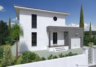 A LUNEL VIEIL sur un terrain de 217 m²  , jolie maison à étage (T4) avec garage en RT 2012 - Tél: 06 [...]