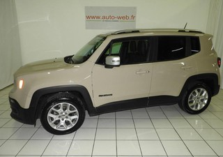 JEEP Renegade 1.6 MultiJet S&S 120ch Limited - année 2015 Diesel SABLE 27385km ABS, Accoudoir centra [...]